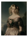 Portrait de Marie Caroline Auguste de Bourbon, duchesse d'Aumale (1822-1869) Reproduction procédé giclée par Franz Xaver Winterhalter