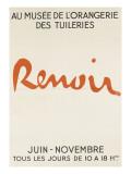 Poster: Renoir Musée De L'Orangerie in the Tuileries Giclee-trykk