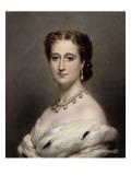 Portrait en buste de l'Impératrice Eugénie. Reproduction procédé giclée par Franz Xaver Winterhalter