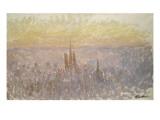 Vue générale de Rouen Reproduction procédé giclée par Claude Monet
