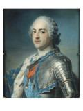 Portrait de Louis XV Le Bien-Aimé (1710-1774) en armure Reproduction procédé giclée par Maurice Quentin de La Tour