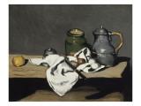 Nature morte à la bouilloire Reproduction procédé giclée par Paul Cézanne