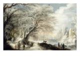 Paysage de neige Giclee-trykk av Gysbrecht Lytens