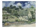 Chaumes de Cordeville à Auvers-sur-Oise Giclee Print by Vincent van Gogh