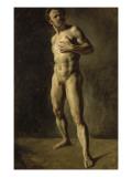 Etude d'homme nu Reproduction procédé giclée par Eugene Delacroix