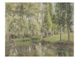 Le lavoir de Bazincourt (Eure) Giclee Print by Camille Pissarro