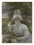 Le goûter. Portrait de Louise Quivoron, soeur de l'artiste Lámina giclée por Marie Bracquemond
