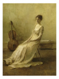 La Musicienne Giclee Print by Thomas Wilmer Dewing