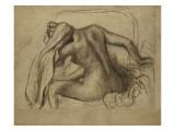 La Toilette Giclee-trykk av Edgar Degas