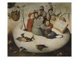 Le concert dans l'oeuf (Satire de l'alchimie symbolispar l'oeuf philosophique) Giclee Print by Jérôme Bosch