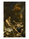 La tentation de Saint Antoine Giclée-tryk af Alessandro Magnasco