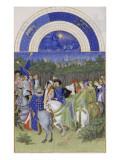 Les Très Riches Heures du duc de Berry Giclée-tryk