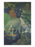 Le Cheval blanc Giclee Print by Paul Gauguin