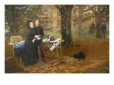 Le Prince impérial et sa mère Reproduction procédé giclée par James Tissot