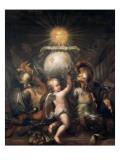 Trophée aux armes de Louis XIV Reproduction procédé giclée