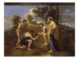 """Les Bergers d'Arcadie dit aussi """"Et in Arcadia Ego"""" Reproduction procédé giclée par Nicolas Poussin"""