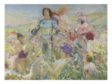 Le chevalier aux fleurs (tiré de Wagner, Parsifal) Giclée-tryk af Georges Antoine Rochegrosse