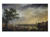 Vue du port de la Rochelle Reproduction procédé giclée par Claude Joseph Vernet