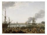 Vue du port de Rochefort Giclée-Druck von Claude Joseph Vernet