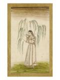 Jeune femme sous un saule pleureur Giclee Print