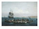 Vue du Golfe de Bandol, pêche au thon Giclée-Druck von Claude Joseph Vernet