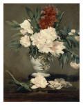 Vase de pivoines sur piédouche Giclee Print by Edouard Manet