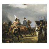 Napoléon Ier passant devant les troupes à la bataille d'Iena, 14 octobre 1806 (bataille contre Reproduction procédé giclée par Horace Vernet