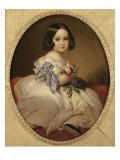 Marie-Charlotte-Amélie de Saxe-Cobourg et Gotha (1840-1927) future Impératrice du Mexique, Reproduction procédé giclée par Franz Xaver Winterhalter