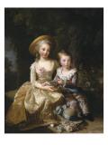 """Marie-Thérèse-Charlotte de France, """"Madame Royale"""" (future duchesse d'Angoulême) (1778-1851) et Reproduction procédé giclée par Elisabeth Louise Vigée-LeBrun"""