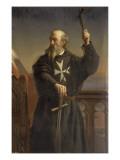 Raymond du Puy, 2ème grand-maître de l'ordre des chevaliers hospitaliers de Saint-Jean de Reproduction procédé giclée par Alexandre Laemlein
