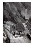 """Jules Verne, """"César Cascabel"""", Illustration Impressão giclée por Jules Verne"""