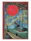 """Jules Verne, Cover of """"Propeller Island"""" Impressão giclée por Jules Verne"""