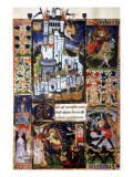 Manuscript of the Hours of Rohan-Montauban Giclée-tryk