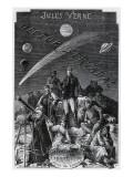 """Jules Verne, """"Hector Servadac"""", Frontispiece Impressão giclée por Jules Verne"""