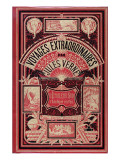"""Jules Verne, Cover of """"Southern Star Mystery"""" and """"Propeller Island"""" Giclée-Druck von Jules Verne"""
