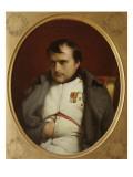 Delaroche, Napoleon after His Farewell Speech at Fontainebleau Lámina giclée por Paul Delaroche