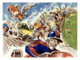 Midget Racing Giclee Print by Geo Ham