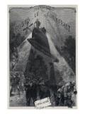 """Jules Verne, """"Robur the Conqueror"""", Frontispiece Giclée-Druck von Jules Verne"""