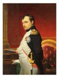 Delaroche, Portrait de l'empereur Napol 1er dans son cabinet Reproduction procédé giclée par Paul Delaroche