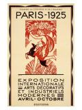 1925 Paris Art Exposition Poster Giclée-Druck von Robert Bonfils