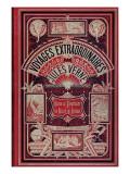 """Front Page of """"Robur Le Conquérant"""" and """"Un Billet De Loterie"""", by Jules Verne Giclée-Druck von Jules Verne"""