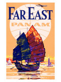 Pan Am Airlines Far East Giclée-Druck