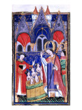 Manuscript of the Rohan-Montauban Hours: The Life of Saint Nicholas Giclée-tryk