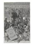 """Jules Verne, Frontispiece of """"Foundling Mick"""" Giclée-Druck von Jules Verne"""