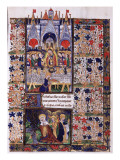 Manuscript of the Hours of Rohan-Montauban: The Last Supper, And the Holy Women Giclée-tryk