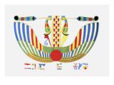 The Winged Disk, The Emblem of Thoth Lámina giclée por Jean-Fran?s Champollion
