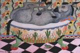 Mule in Bath Prints by Carol Grigg