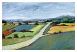 Pastel Landscape IX Posters van Jacques Clement