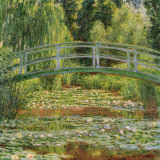Le Pont Japonais, Giverny Kunst af Claude Monet