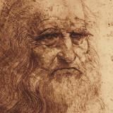 自画像 1889年 (詳細) 高品質プリント : レオナルド・ダ・ヴィンチ